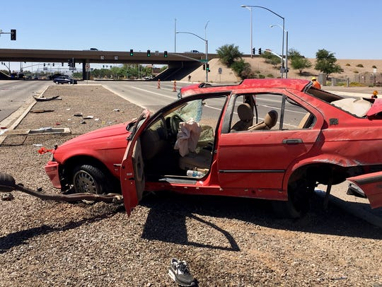 Five teens were involved in a crash after the driver