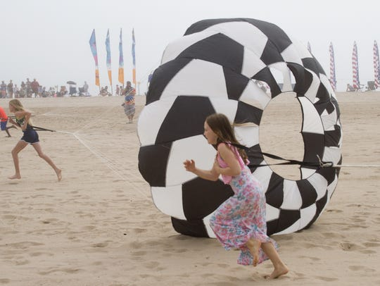 Kites Over Lake Michigan is an annual event at Neshotah