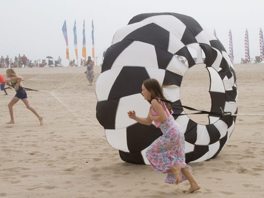 Kites Over Lake Michigan is an annual event at Neshotah Beach in Two Rivers.