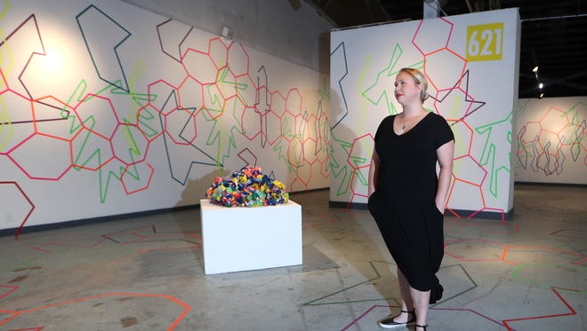 """Lauren Baker, the Executive Director at 621 Gallery in Railroad Park, which has hit a funding shortfall and may need to close its doors after 38 years. """"I moved here from Southwest Florida and 621 has made me want to stay, as a part of this community. This is a space for everyone, a space for collaboration,"""" said Baker, who hopes a community outreach will help them raise the funds to remain open in the gallery's current space."""