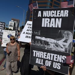 Protest in Los Angeles on July 26, 2015.
