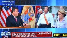 Christie and Bridget Anne Kelly.  (Screen Grab by Bergeron Images, 01-09-2014)