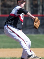 Jackson Liberty vs Jackson Memorial baseball. Memorial's starting pitcher Ryder Tallent.Jackson, NJSaturday, April 8, 2017@dhoodhood