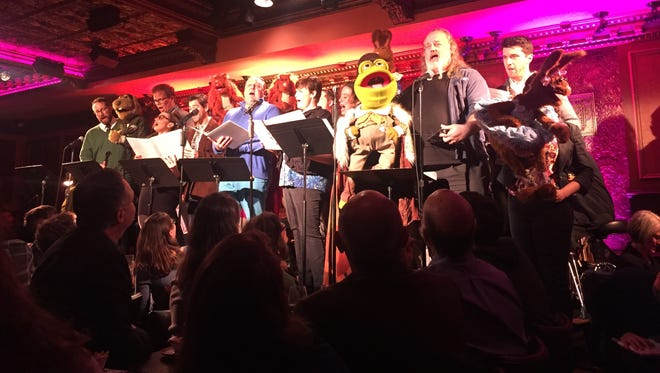 "The cast of ""Emmet Otter's Jug-Band Christmas in Concert"" on Dec. 15 at Feinstein's/54 Below in New York City. Retreat to Broadway is holding a benefit concert at the venue on July 16."