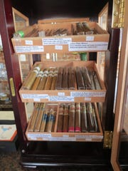 A rotation of nine cigars sit in the humidor at Ceviche Bar.