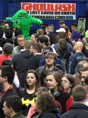 Crowds flood the Pensacola Bay Center for Pensacon 2015 in February. The nerd culture convention was the most popular event of the year with PNJ readers.