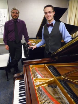 New Mexico State University students take honors at UTEP Piano competition. NMSU College of Arts and Sciences piano majors Joseph Seth Zamora, left, won first prize, and Christopher James Andrews won third prize in the final round of the 2016 UTEP Piano Competition last month. The first round eliminated all but five competitors through DVD entries. Performers in the final round performed a 20-minute public recital at UTEP's Fox Fine Arts Recital Hall, Jan. 31. The competition's first prize is a $1000 cash award, and third prize is $500.