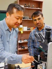 Engineering professors Sang-Yeon Cho, left, and Muhammad