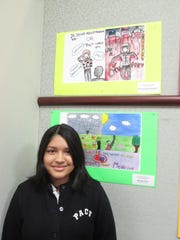 "Nicole Rosas Bendrell, a 7th grade student at Perth Amboy Catholic School, was a Third Place Winner in the Creative Expression Art Contest "" Be Smart About Medicine "" sponsored by the Coalition for Healthy Communities and the Wellspring Center for Prevention in Middlesex County."