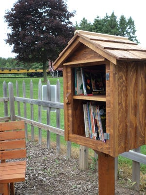 Manitowoc County Historical Society installed a Little Free Library June 7.