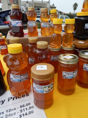 Fresh raw honey from Buckhorn Canyon Ranch in Fillmore is straight from the hive, with none of the added corn syrup or other fillers that are often used in commercial honey, says Florina Zavala. This honey is from flowers in Ventura County and is sold at the Channel Islands farmers market.