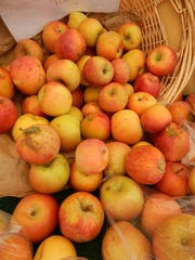 It's apple season at the farmers market with Fuji apples