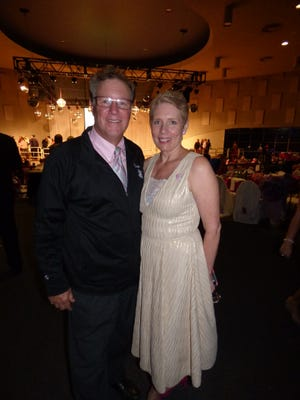 Bloomfield Hills Fred Astaire Studio owner Evan Mountain and Pink Fund CEO and founder Molly MacDonald.  Mountain has donated all of his time and studio resources for the past four years of the Pink Fund's largest fundraiser, Dancing with the Survivors.