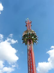 The Super Shot was among the most popular thrill rides at the Rapides Parish Fair.