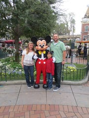 Susan Fortson and husband Aaron Gardner at Disneyland