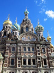 St. Petersburg's famous Church of the Savior of Spilled