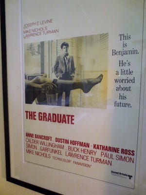 """""""The Graduate"""" movie posters hang in each of the 144 rooms at the Graduate Hotel Berkeley."""