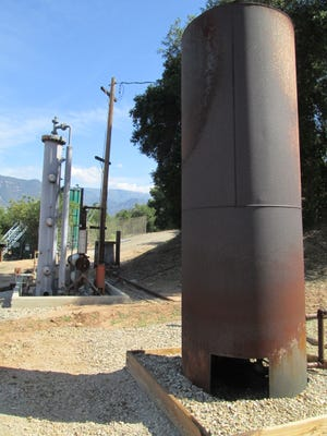 This is the flare used at an oil facility off Creek Road near Ojai,