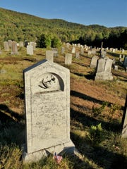 The final resting place of Achsa Sprague, Plymouth Notch Cemetery.