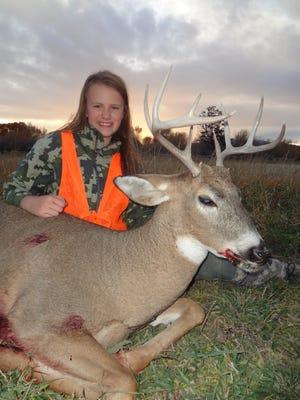 Macie Wheeler utilized the Apprentice Hunter program to get this deer.