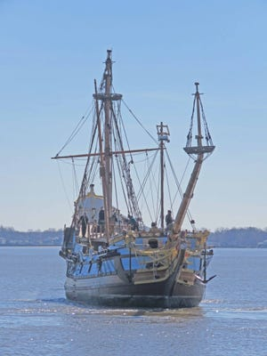The Kalmar Nyckel will be at the end of the new pier in New Castle for this weekend's A Day in Old New Castle.