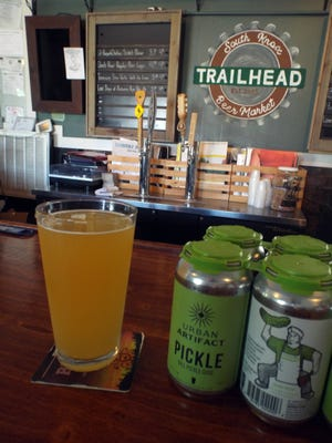 Dill Pickle Gose is the perfect beer for a day at the lake.