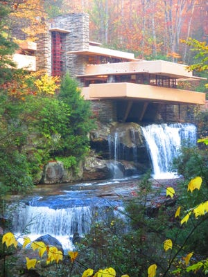 Fallingwater in Mill Run, Pennsylvania, is one of Frank Lloyd Wright's most famous homes.