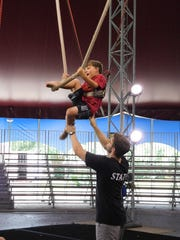 Whether clambering onto the cloud swing or flying on the trapeze, campers are always supervised by a knowledgeable counselor.