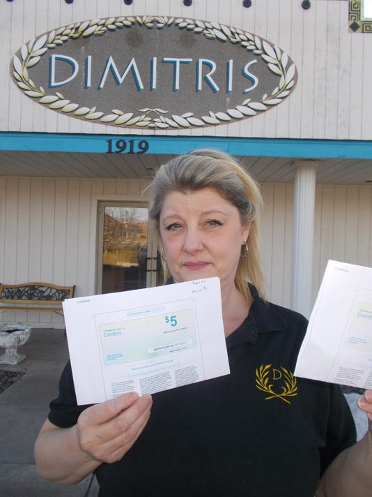 Dimitri's restaurant owner Jody Mintsiveris