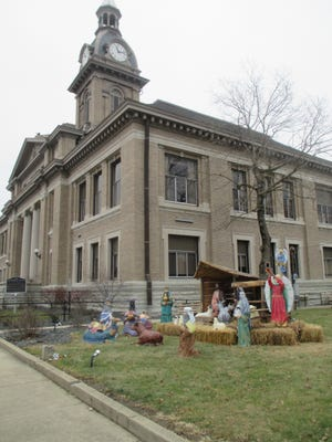 A small Indiana county is facing another lawsuit that centers on who can and cannot place public displays outside its courthouse. Franklin County already is facing a federal lawsuit challenging its residents' 50-year-old practice of putting up a Nativity display on the courthouse lawn.
