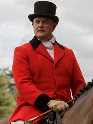 Hugh Bonneville dons a red coat as Robert, Earl of
