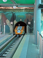 The Third Tunnel Tour uses a tram to take kids and