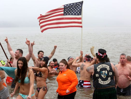 The 19th annual Stony Point Seals polar plunge on Feb.