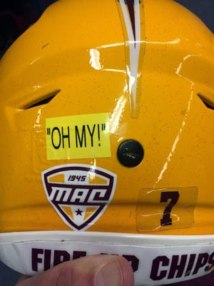 This is the sticker the Central Michigan players will wear in their bowl game Friday.