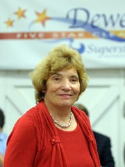 Dewey Beach Mayor Diane Hanson speaks at a town hall meeting in 2013. The town's purchase of two properties has triggered a Department of Justice complaint by residents.
