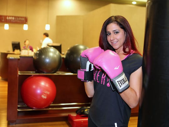 Nicole Delli Bovi, a personal trainer and boxing coach,