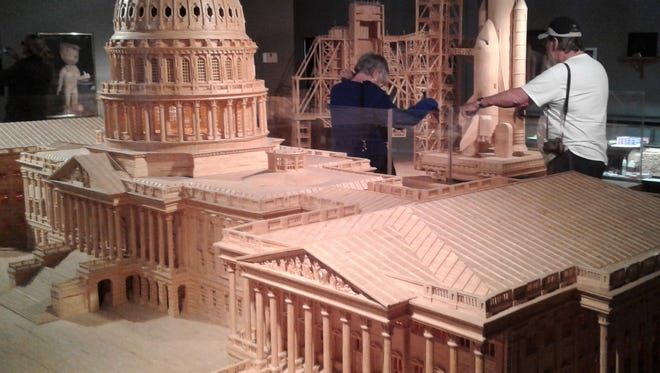This intricate model of the U.S. Capitol was fashioned from nearly 500,000 matchsticks and is part of the current display at Matchstick Marvels in Gladbrook.