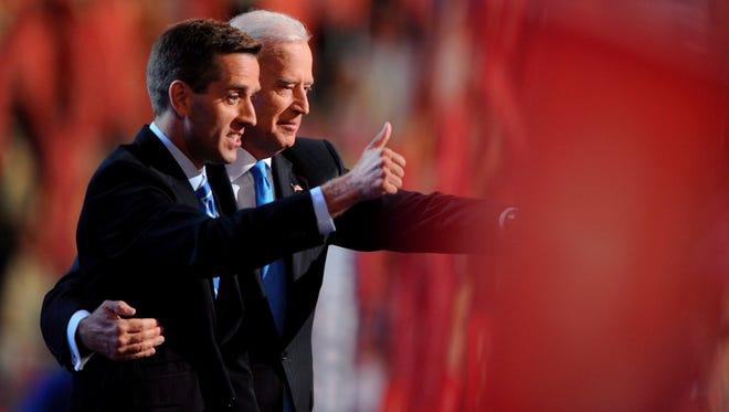 Vice President Biden and Beau Biden in 2008.