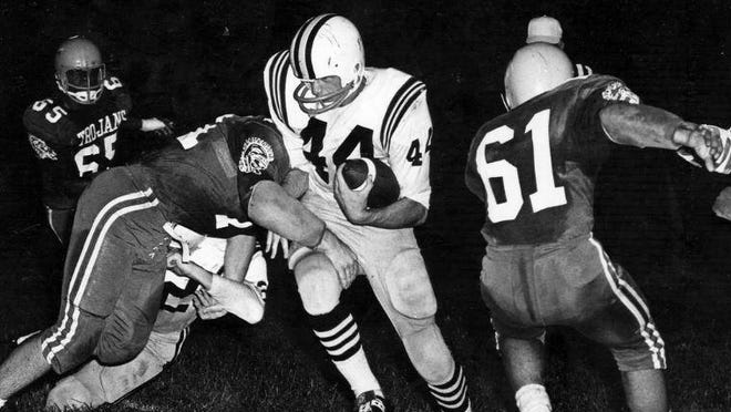 Tim Laps in action for Perry during the 1969 football season.