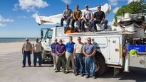City line workers departed Dec. 9 as part of a group bound for St. Croix to assist with power restoration in wake of hurricanes Irma and Maria.