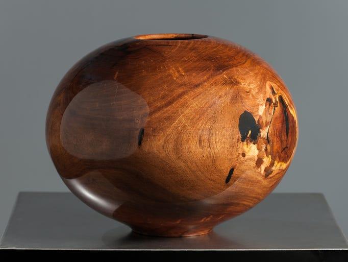 Mesquite vase by Philip Moulthrop, 2014.