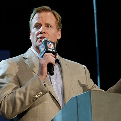 Roger Goodell discussed the NFL's recent problems during a press conference Friday in New York.