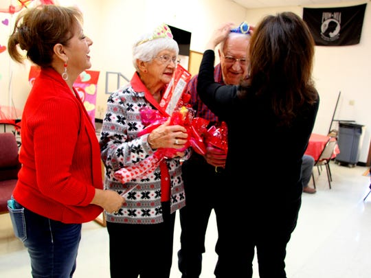 Robert and Sissy Daugherty were crowned the Valentine's Day king and queen during the San Jose Senior Center's party on Friday.