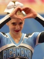 Richmond cheerleader Emily Mikolasik