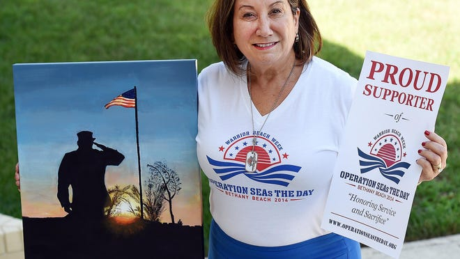 Annette Reeping is one of the key organizers of Operation SEAS the Day, a event which welcomes the families of wounded service members to spend a week in Bethany Beach, at largely no cost to them.
