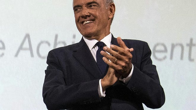 Venice Film Festival director Alberto Barbera appears at an award presentation in 2019.  Organizers are forging ahead with plans for the 77th edition of the festival in Italy.