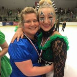 Mom, daughter take to ice in international competition