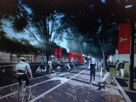 An artist's rendering of the proposed East Mall at
