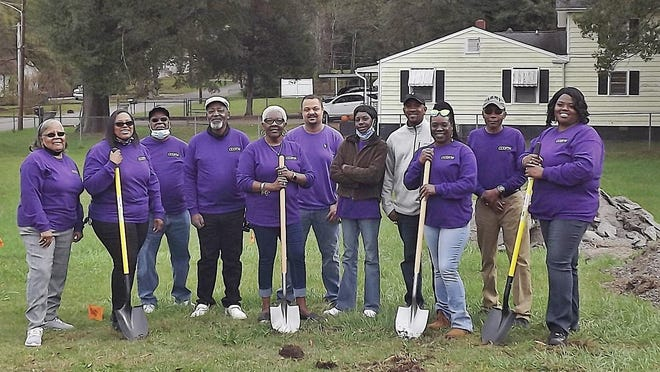 Shown are some of the volunteers who make up the Christ Community Baptist Church Outreach Food Ministry in Gastonia. The group was breaking ground on a new building that will allow them to serve others more easily.