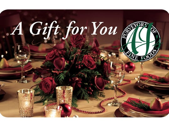 The upscale gourmet market is not just a grocery store, it's an experience. The gift card can be used anywhere in the boutique-like store including the butcher shop, floral and gifts or the boulangerie. To buy: ajsfinefoods.com,  any of its stores or call the gift card line at 1-866-292-6407.  To buy: ajsfinefoods.com,  any of its stores or call the gift card line at 1-866-292-6407.